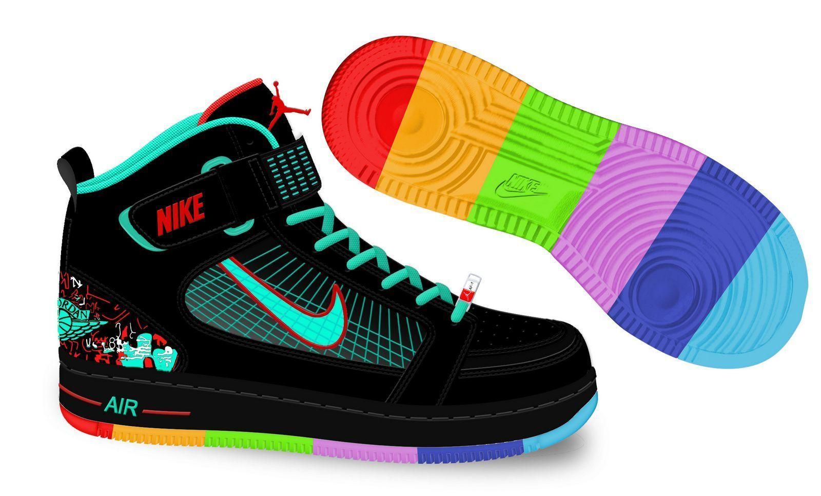 1600x966 nike air jordan rings balck green rainbow colors jordan sport