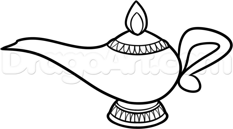 951x527 How To Draw A Genie L Step