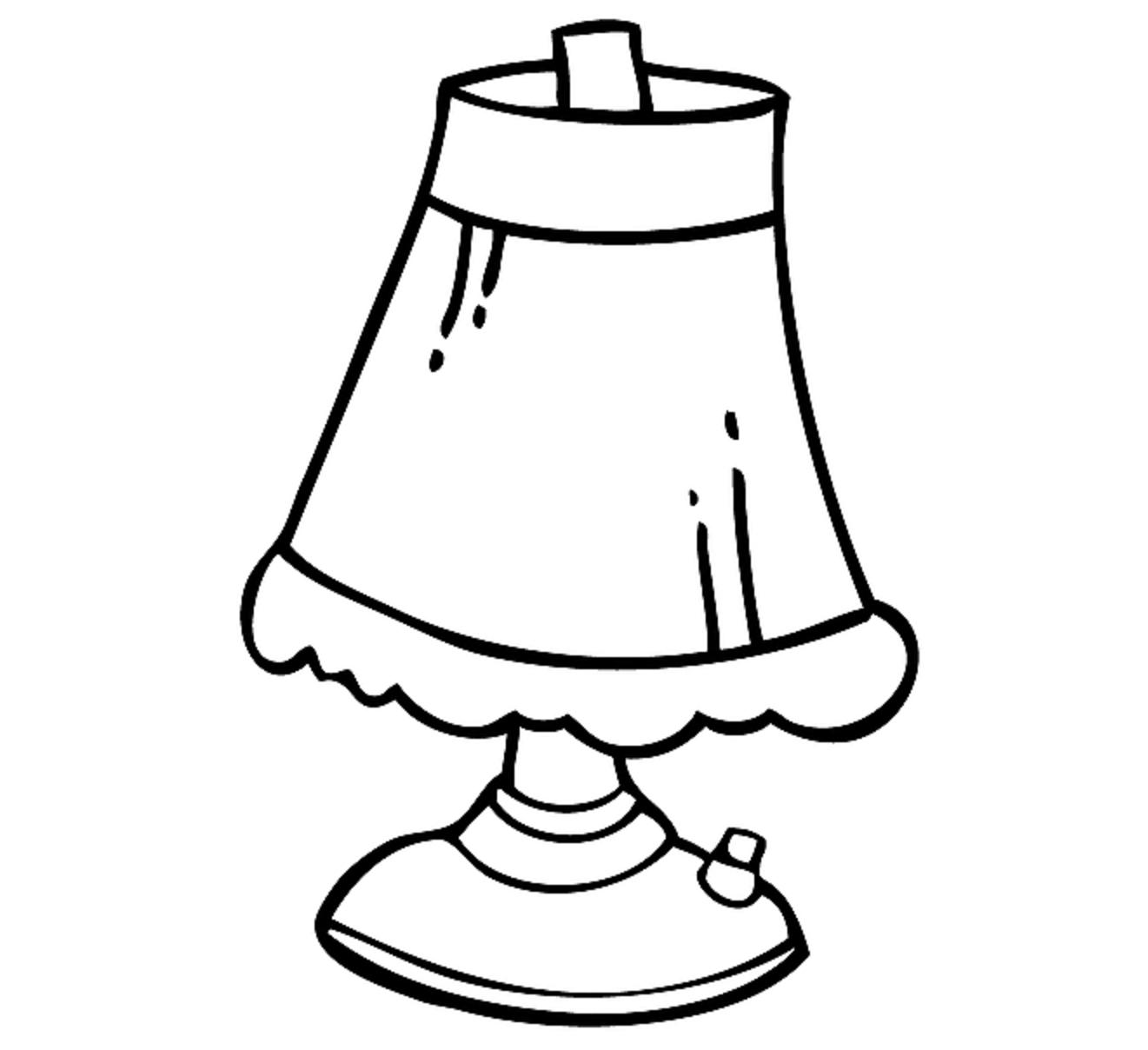 1321x1208 Lamp Drawing Free Download