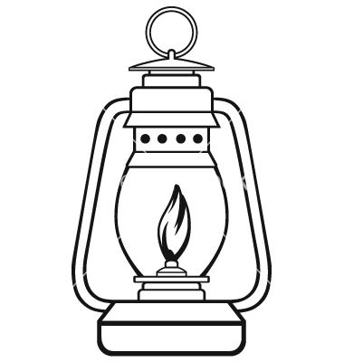380x400 Old Dusty Oil Lamp Vector Drawing Laterns Lantern Drawing