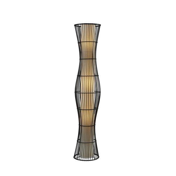 600x600 Shop The Curated Nomad Zoe Black Rattan Lantern Floor Lamp