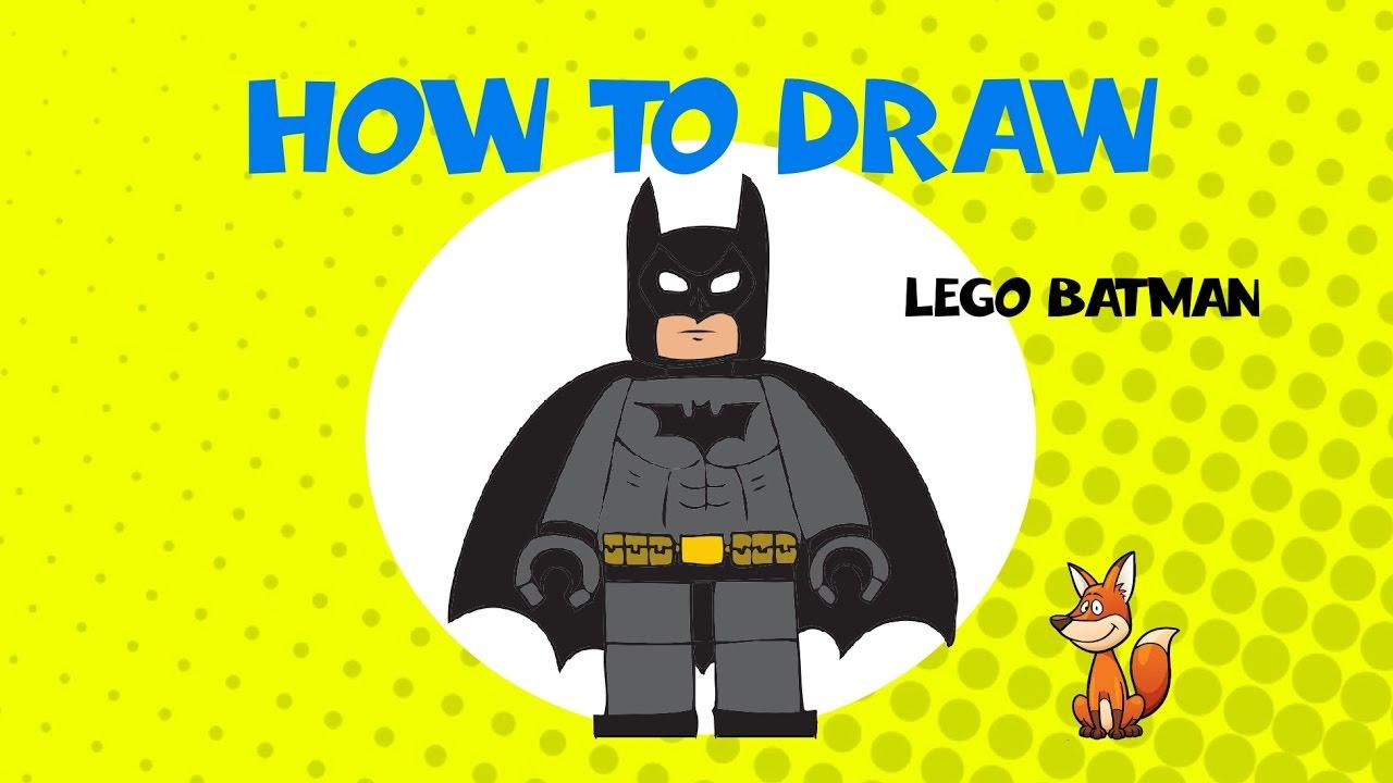 1280x720 How To Draw Lego Batman