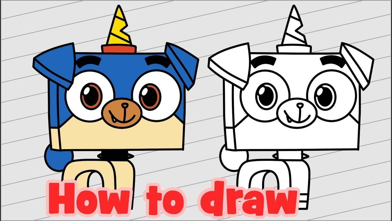 1280x720 How To Draw Puppycorn From Unikitty Lego