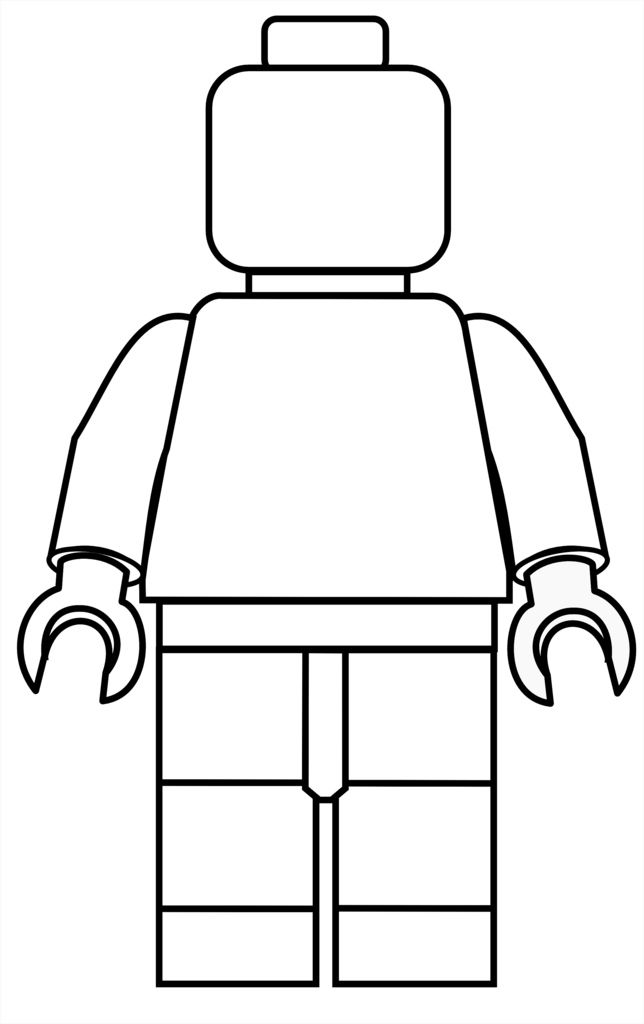 644x1024 Lego Mini Fig Drawing Template Crafts Lego Birthday Party