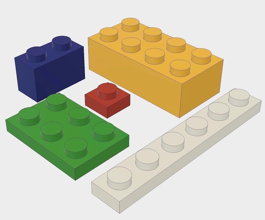 864x719 Parametric Lego Bricks In Fusion Steps