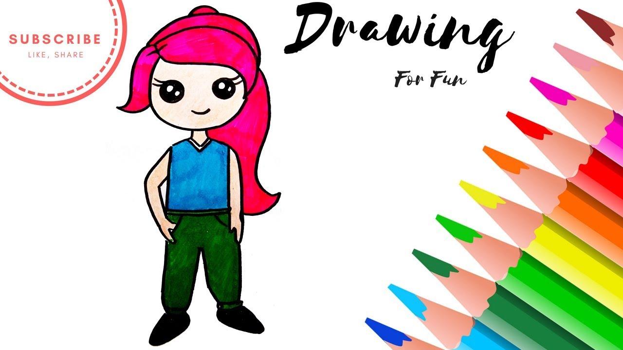 1280x720 How To Draw Lego Friends Mia Easy
