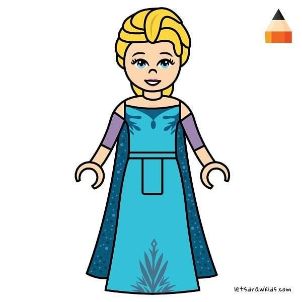 600x600 Let's Draw Kids How To Draw Lego Princess Elsa