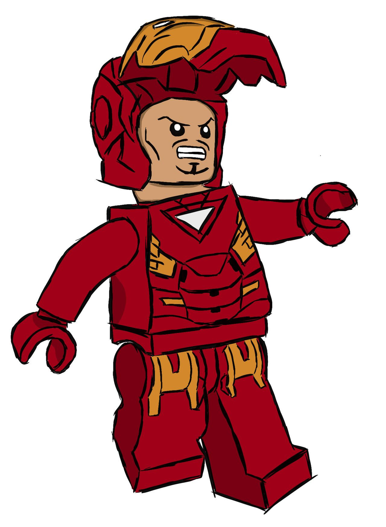 Lego Iron Man Drawing | Free download best Lego Iron Man