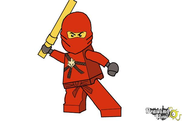 600x400 How To Draw Kai From Lego Ninjago