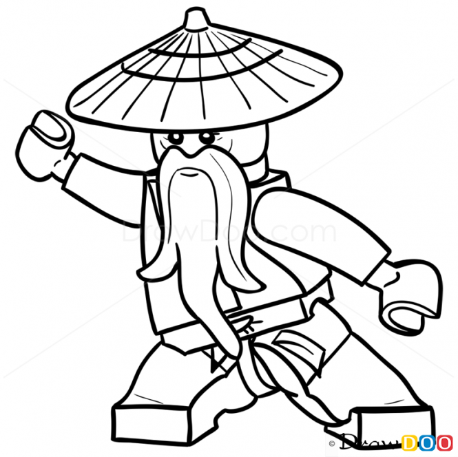 665x664 How To Draw Sensei Wu, Lego Ninjago Lego Ideas Lego Ninjago