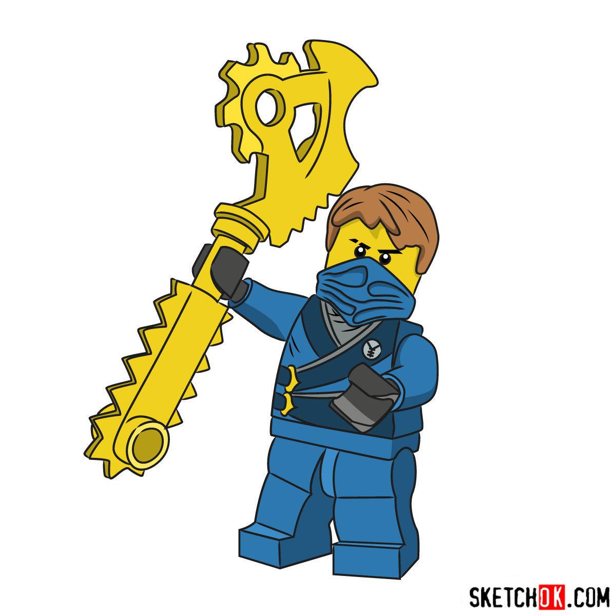 1200x1200 How To Draw Jay From Lego Ninjago