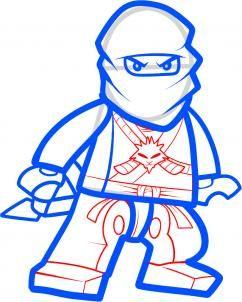 242x302 How To Draw Zane, Ninjago Step Step