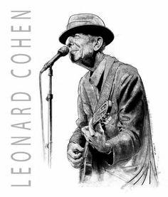 Leonard Cohen Drawings