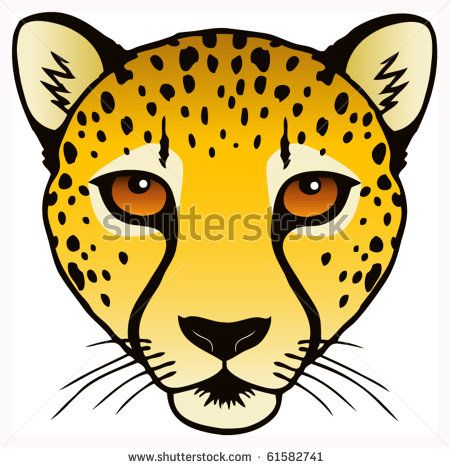 450x467 Cheetah Cheetah Face, Cheetah Drawing