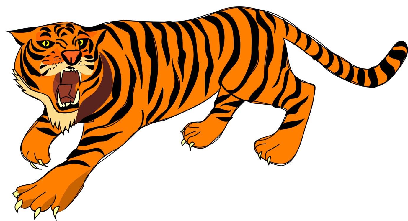 1382x750 Tiger Roar Cartoon Drawing Cc0