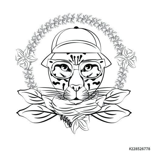 500x500 Leopard Face Drawing Leopard Face Drawing Leopard Face Line