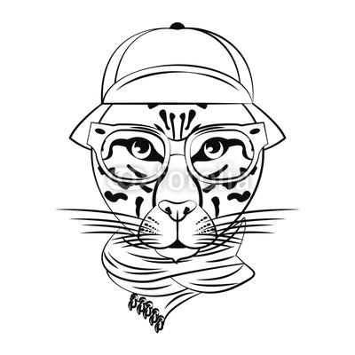 400x400 Hipster Leopard Cool Sketch Buy Photos Ap Images Detailview