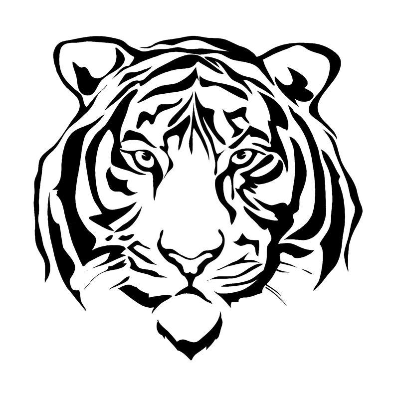 794x794 Tiger Jaguar Leopard Big Cat Predator Logo Etsy