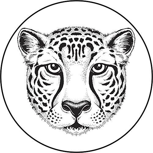 500x500 Pretty Majestic Zoo Animal Pen Sketch Head Vinyl Decal