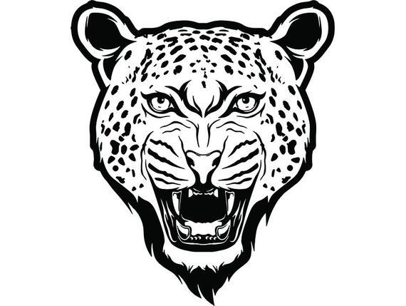 570x429 Cheetah Leopard Mascot Head Face Animal Growling Cartoon Etsy