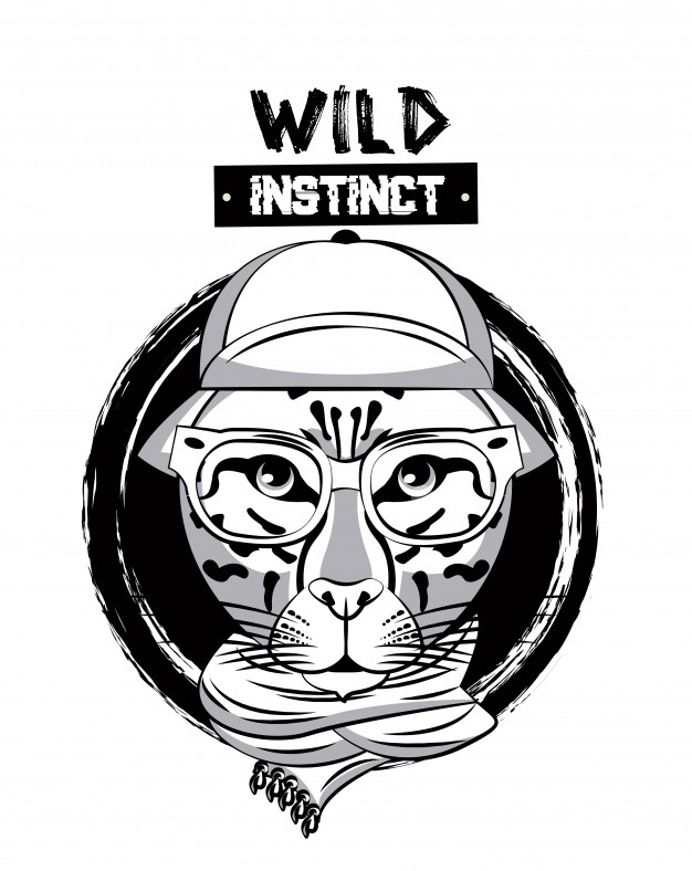 626x788 Hipster Wild Leopard Print For T Shirt Vector Premium Download