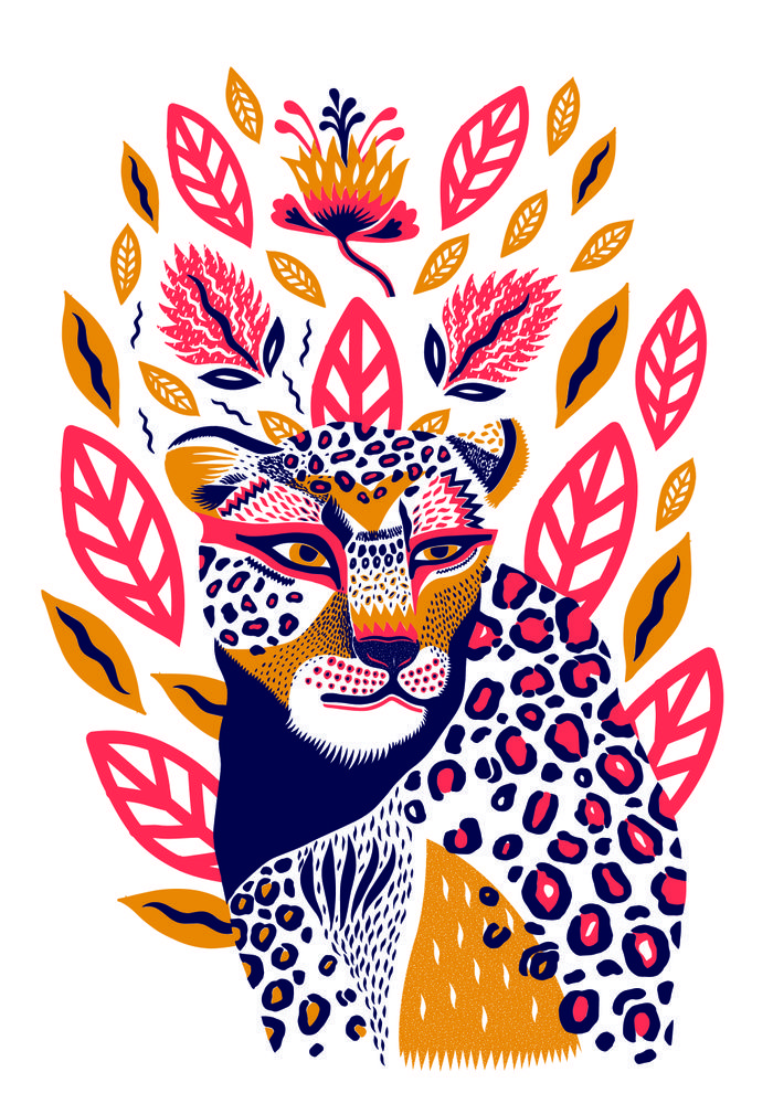 700x1000 Panther In Foliage In Art I Desire