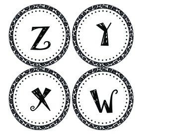 350x270 Circle Leopard Print Abc Labels
