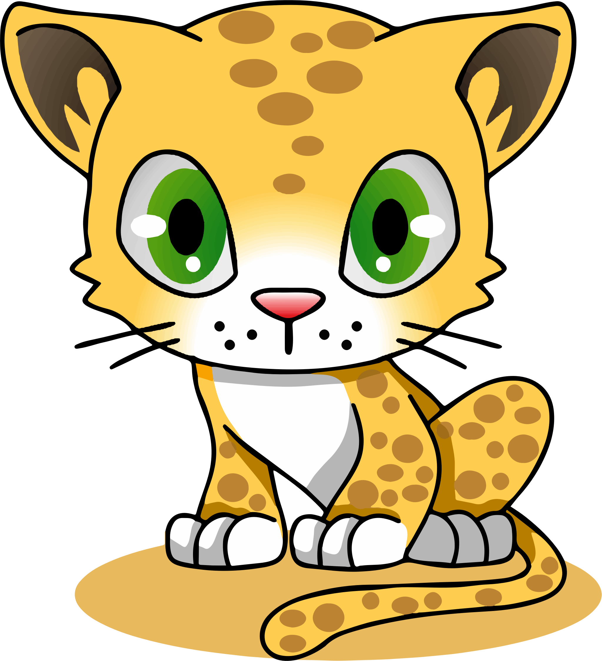 2046x2247 Mammal Drawing Leopard Transparent Png Clipart Free Download