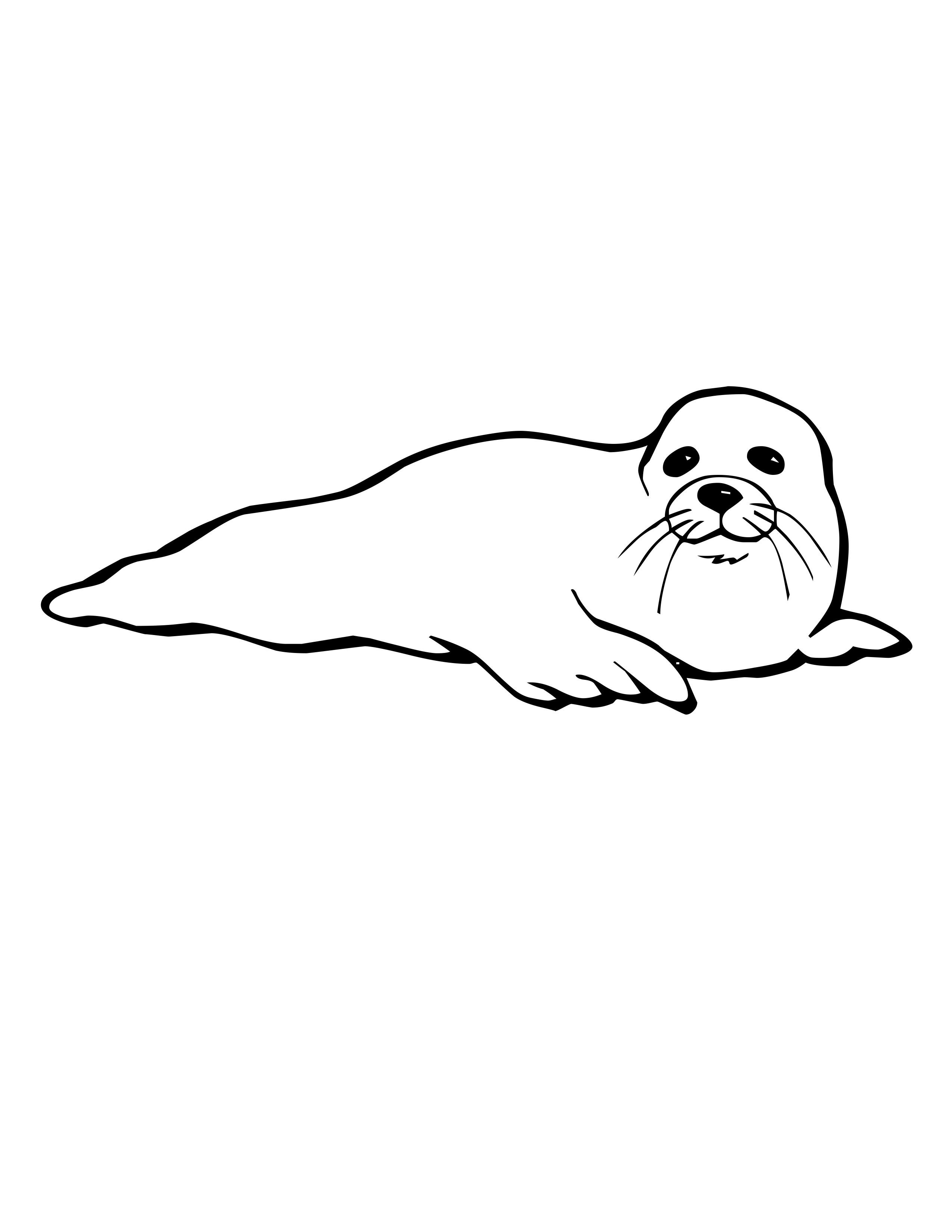 2550x3300 Seal Drawing Cool For Free Download