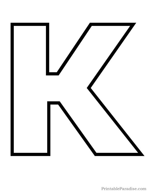 Letter K Drawing