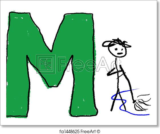 560x470 free art print of letter m a childlike drawing of the letter m