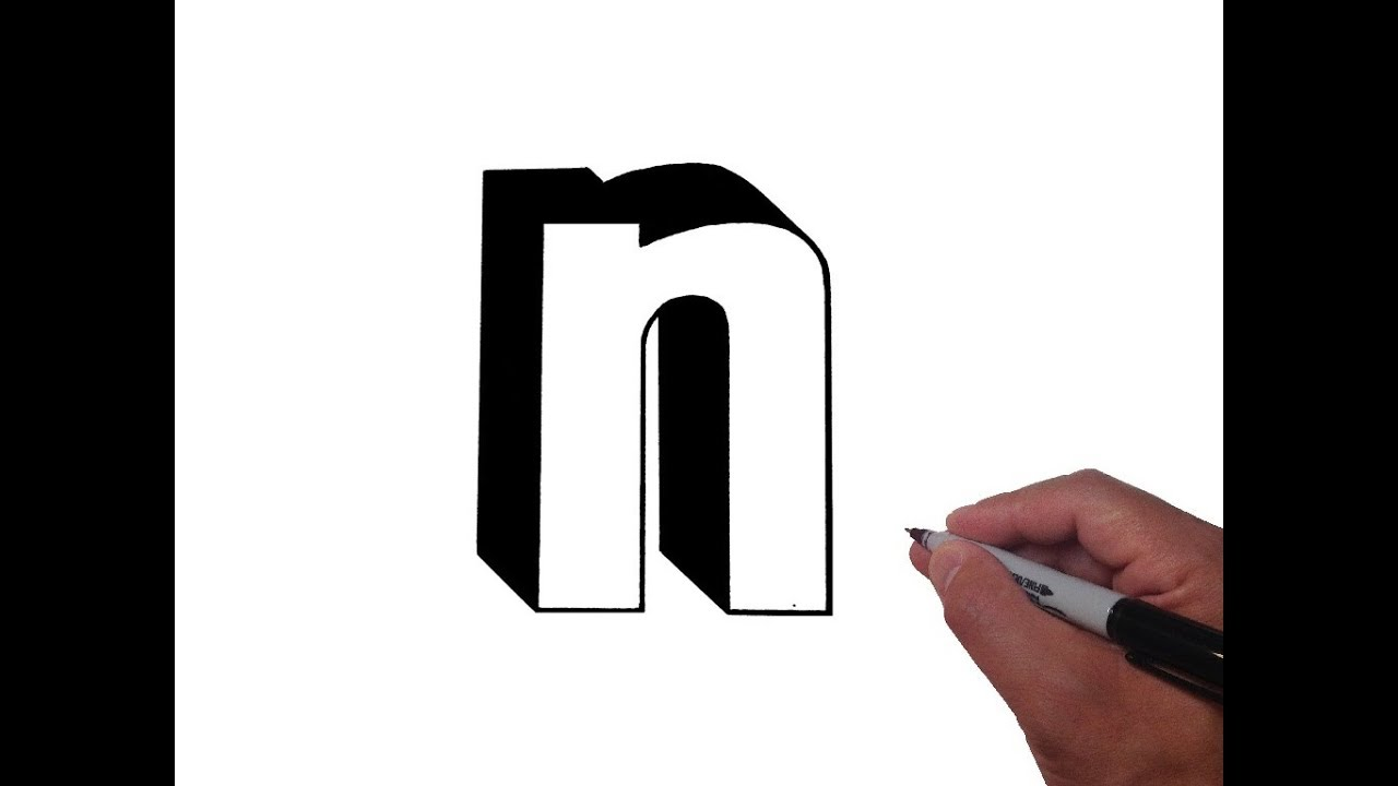 1280x720 How To Draw Letter N In Lowercase