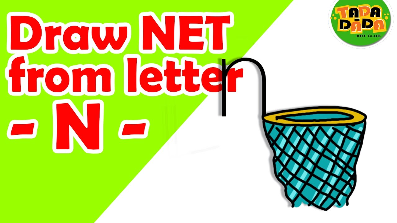1280x720 Learn To Draw Net From Letter N Step