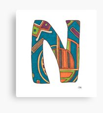 210x230 Letter N Drawing Canvas Prints Redbubble
