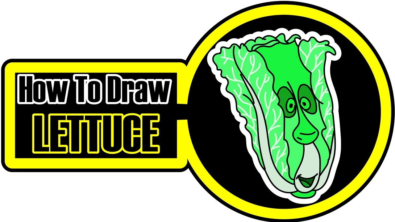 1280x720 Romaine Lettuce Coloring Pages For Kids How To Draw Lettuce