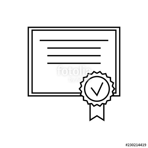 500x500 certificate linear icon diploma quality certificate thin line