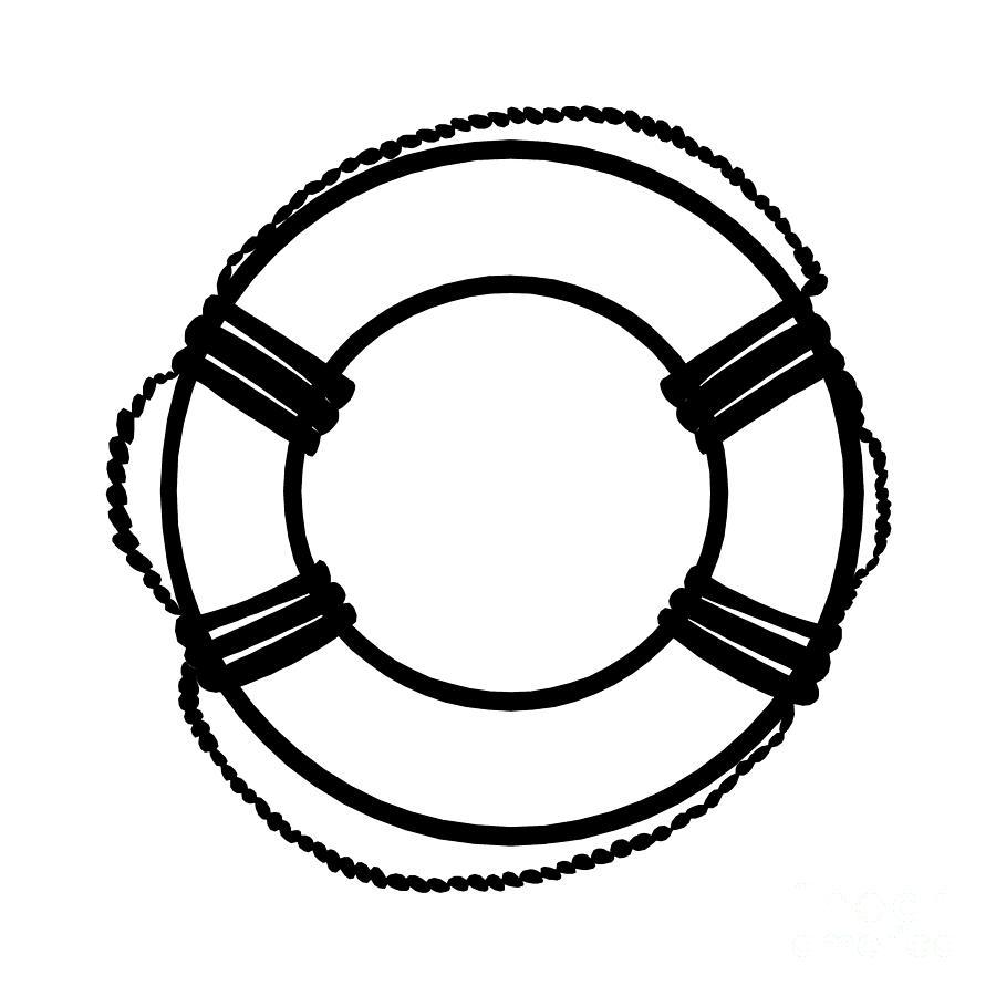 Life Ring Drawing