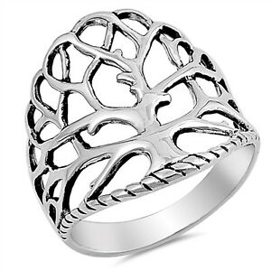 300x300 sterling silver pretty womenstree of lifedesign silver ring