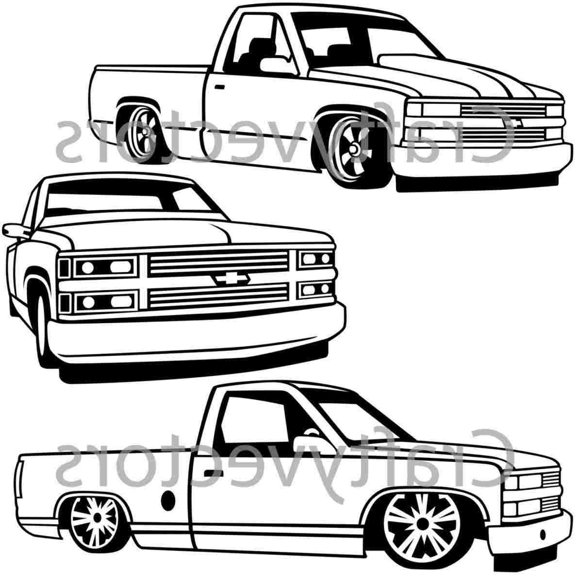 Lifted Truck Drawings Free Download On Clipartmag
