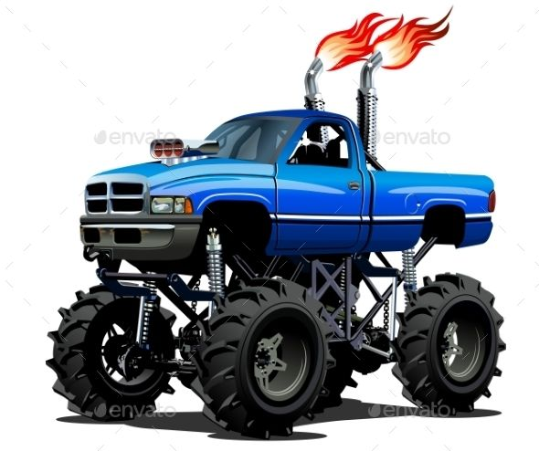 590x494 cartoon monster truck truck art monster trucks, lifted trucks
