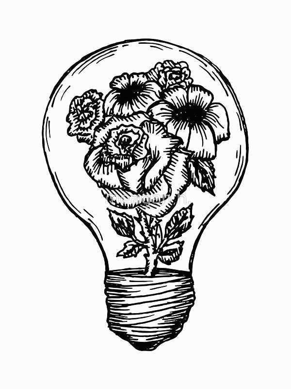 Light Bulb Pencil Drawing