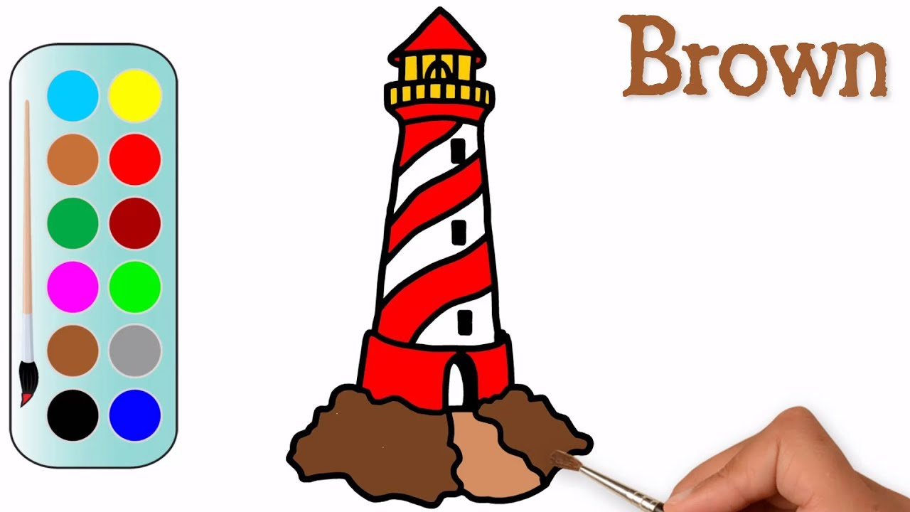 1280x720 drawing a lighthouse for beginner lighthouse coloring pages