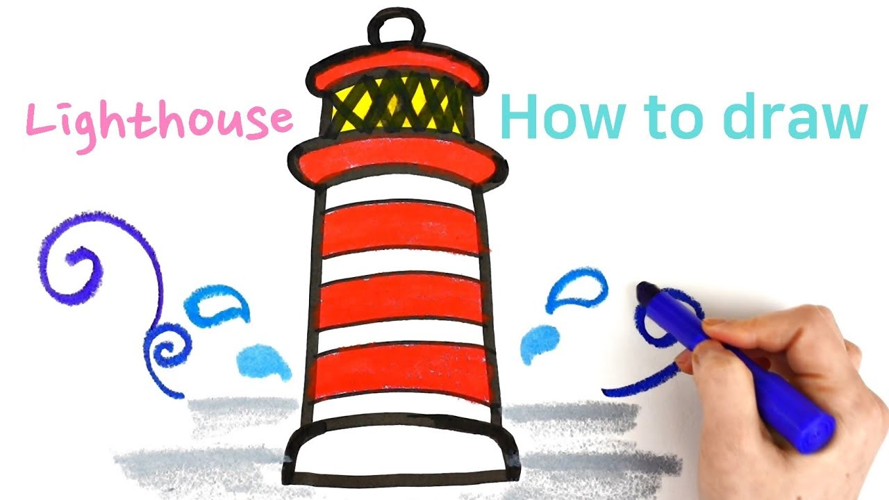 1280x720 lighthouse coloring and drawing for kids how to draw lighthouse