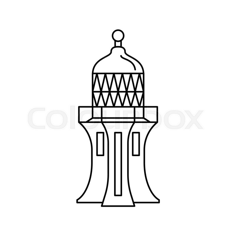 800x800 lighthouse icon outline lighthouse stock vector colourbox