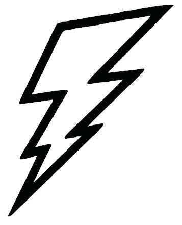 357x441 Drawing Of Lightning Lightning Bolt Vinyl Decal Sticker
