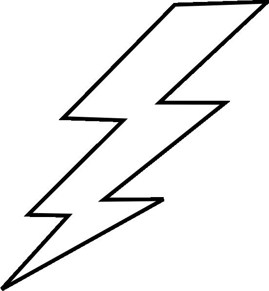 552x598 Free Lightning Bolt Stencil Lightening Clip Art Templates
