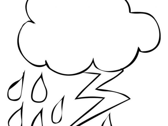 640x480 Drawn Cloud Lightning Drawing