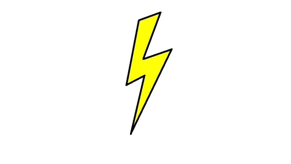 1024x576 How To Draw A Lighting Bolt Lightning Easy To Draw Lightning Bolt