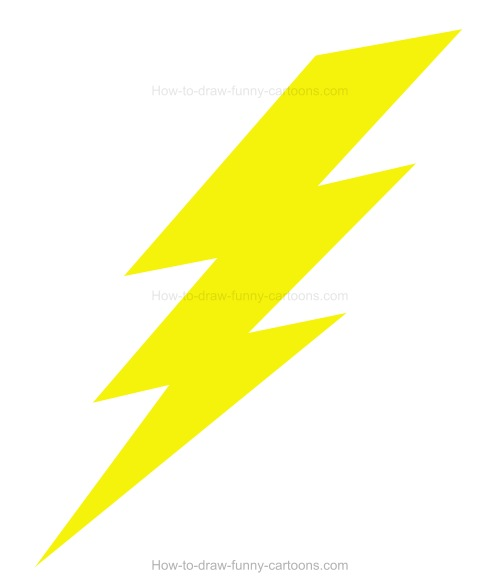 500x588 How To Draw A Cartoon Lightning