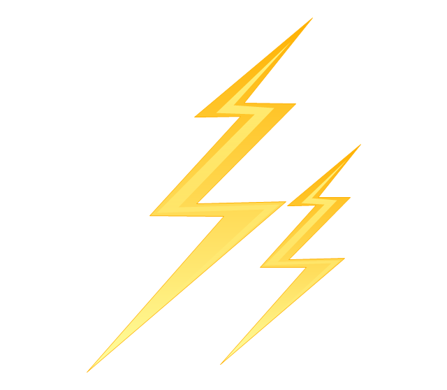 640x558 Lightning, Drawing, Electricity, Transparent Png Image Clipart
